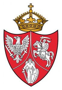 Herb Powstańczy z 1863r symbolizujący unię trojga narodów: Korony Polskiej, Wielkiego Księstwa Litewskiego i Rusi Kijowskiej
